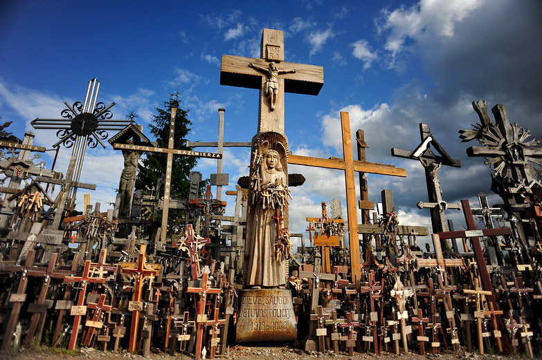 Hill of Crosses Haunted View Large Hill of Crosses
