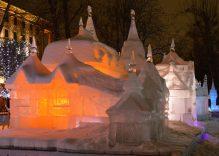 International Ice Sculpture Festival Carnival in Jelgava