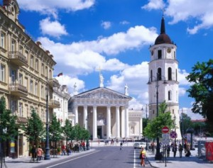 Lithuania, Lietuva, Vilnius, Travel Destination, St Stanislaus cathedral and bell tower