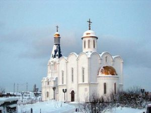 Murmansk church savior on waters