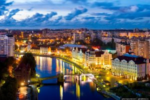 Tour Baltic Amber Route Kaliningrad by night